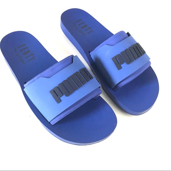 Puma x Fenty Men NEW surf slide sandals blue 11 6177fe4e8